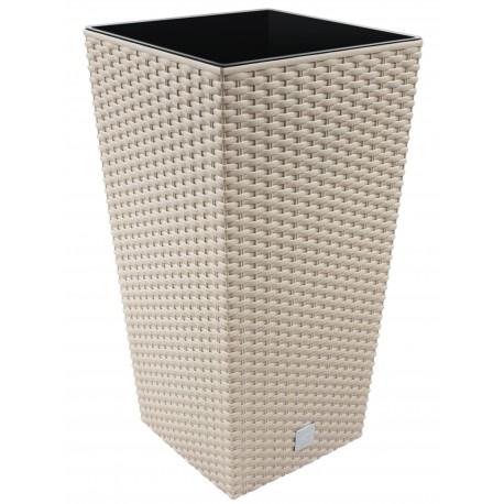 Vaso RATO Square 26,6 L colore Tortora - (HxLxL) 50 x 26 x 26 cm