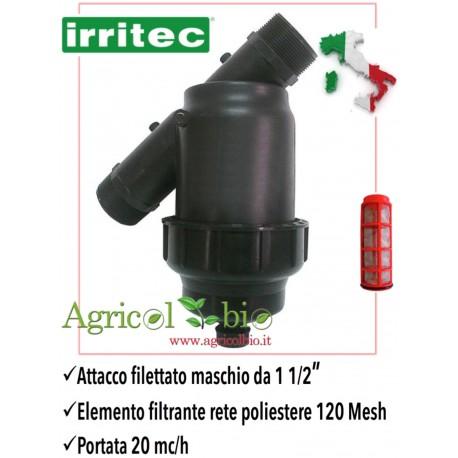 """Filtro a Y da 2"""" - 25 mc/h - elemento filtrante in rete POLIESTERE 120 mesh - IRRITEC"""