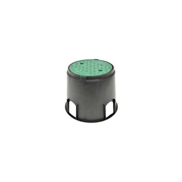 Pozzetto d'ispezione Circolare MINI per elettrovalvole coperchio verde cm 20x16x23 - IRRITEC