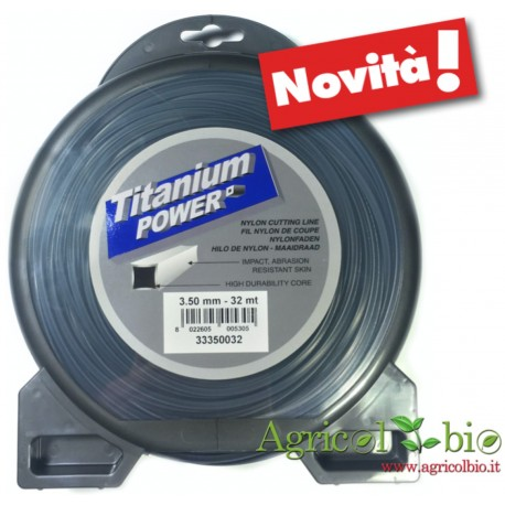 Filo nylon decespugliatore Super Professionale Quadro TITANIUM Jonsered diametro 3,5 mm - lunghezza 32 mt