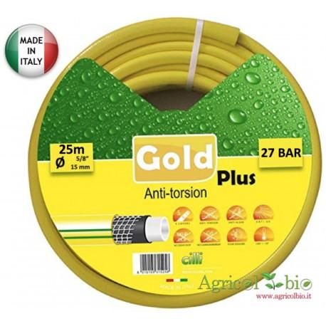"""Tubo giardino Gold Plus Anti Torsion 5/8"""" - 25 Mt - 5 strati di protezione"""