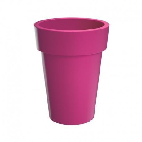 Vaso colorato in plastica da esterno e interno - LOFLY Alto - cm 40 colore rosa