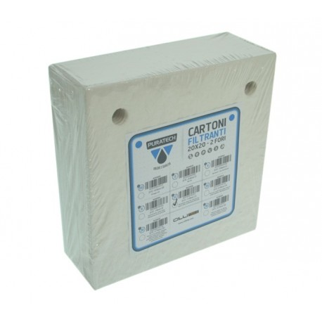 Cartone filtrante puratech fori c16 brllantante 0,9 micron