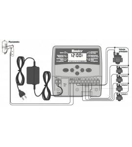 Programmatore Centralina 4 Zone Hunter Eco-Logic da Interno - Schema di montaggio