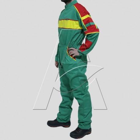 Tuta da Lavoro Multicolor Verde