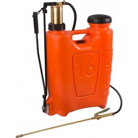Pompa a zaino per diserbo e trattamenti fogliari da litri 16 per orto e fiori - Stocker L. 16 - pompante in ottone