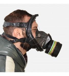maschera facciale per verniciatura a spruzzo