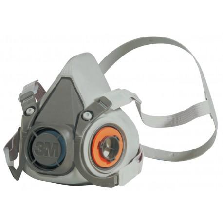3M™ Respiratore a semimaschera riutilizzabile 6200M, taglia media, Certificato EN sicurezza