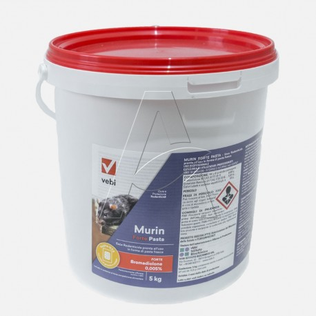 Topicida ratticida MURIN - esca pasta aromatica forte barile da kg 5