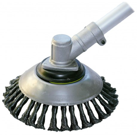 Spazzola universale in acciaio per la pulizia di pavimentazioni esterne, viali e autobloccanti