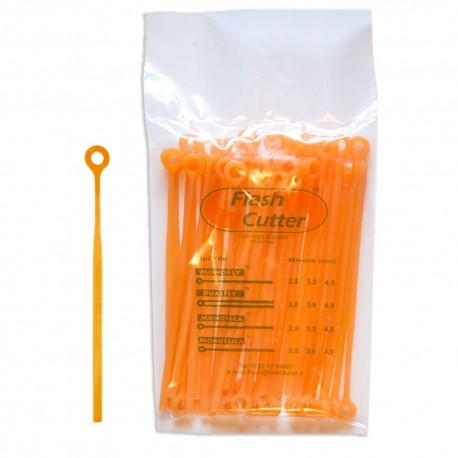 Spezzoni filo / lamelle MonoFly ricambio 3,5 mm per testina Flash Cutter Qfc10 - confezione da 40 Pz