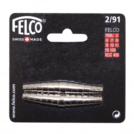 Felco 2/91 - Kit ricambio due molle 62 mm per forbici Felco 2,4,7,8,9,10,11,19,100,4C&H,8CC,160L,400