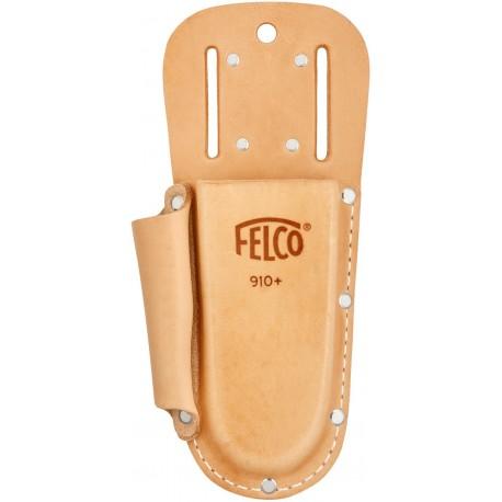 Felco F910+ - Fodero in cuoio portaforbice + tasca con passante e clip a molla Felco