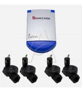 """Programmatore centralina 4 zone a batteria con 4 elettrovalvole 1""""  FF mod G75C Baccara"""