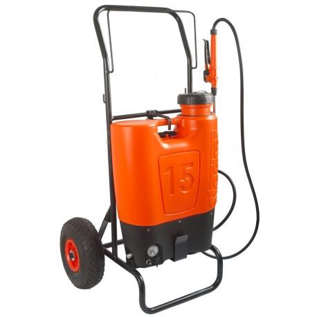 Pompa a zaino Elettrica con Batteria a litio ricaricabile Stocker L. 15 con carrello