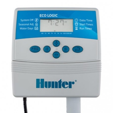 Programmatore Centralina per irrigazione 6 Zone Hunter Eco-Logic, per Interno