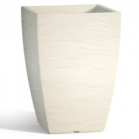 Vaso Adone Square Avorio - cm 27x27 - H 38 cm