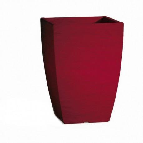 Vaso Adone Square Bordeaux - cm 27x27 - H 38 cm