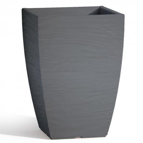 Vaso Adone Square Grigio - cm 27x27 - H 38 cm