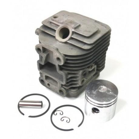 Cilindro completo di pistone e segmenti per motore Kawasaki TJ 27 E