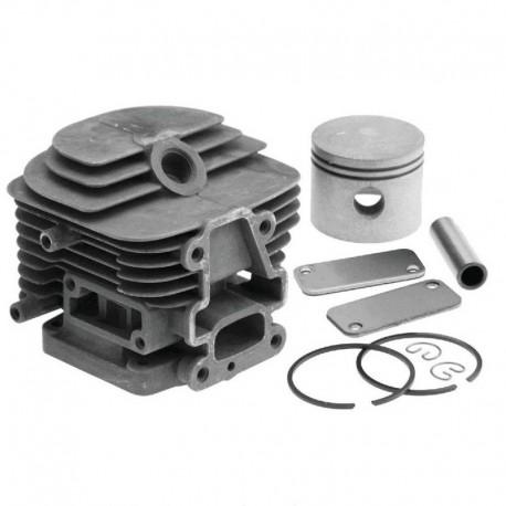 Cilindro completo di pistone e segmenti per motore Kawasaki TJ 45 E - Diametro 42.5
