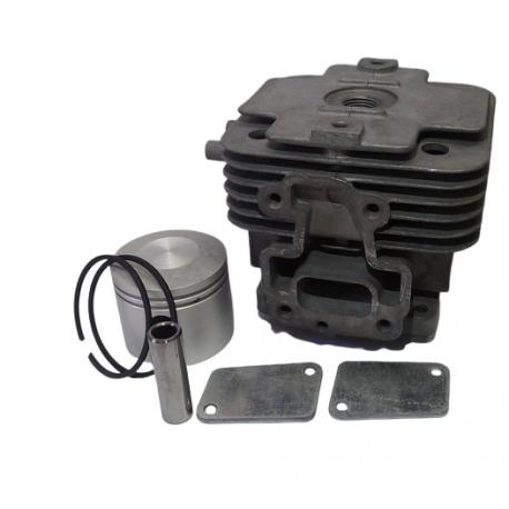 Cilindro completo di pistone e segmenti per motore Kawasaki TJ 53 E - Diametro 44