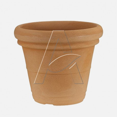 Vaso Doppio Bordo liscio colore terracotta Diam. 40 cm