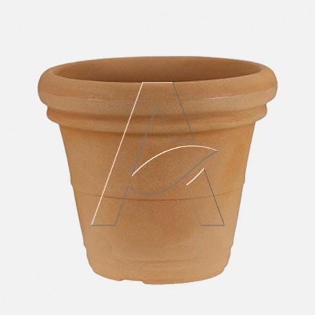 Vaso Doppio Bordo Liscio colore terracotta Diam. 45 cm