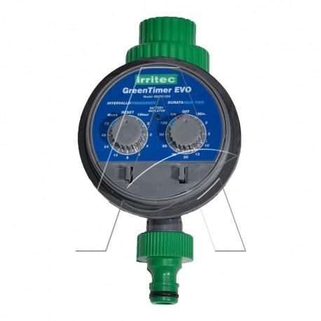 """Programmatore elettronico da rubinetto a pile Green Timer con valvola incorporata IRRITEC 1 zona stazione 3/4"""""""