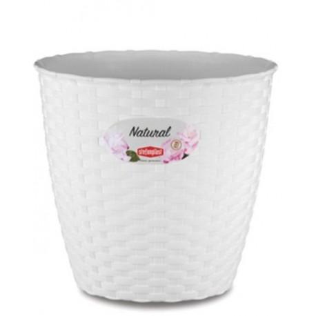 Vaso Natural Stefenplast Diam 19 x H 17,5 cm. Colore: bianco