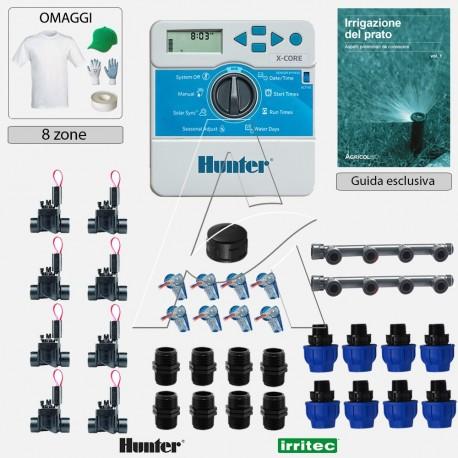 Kit irrigazione Prato Tappeto Erboso completo di elettrovalvole accessori e omaggi | 2 - 4 - 6 - 8 zone | XCi