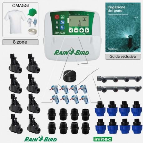 Kit irrigazione Prato Tappeto Erboso completo di elettrovalvole accessori e omaggi | 2 - 4 - 6 - 8 zone | RZXei