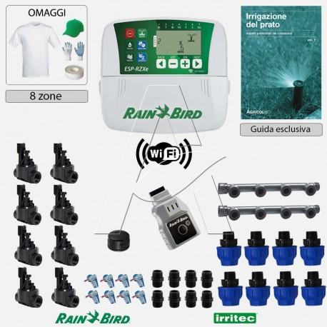 Kit irrigazione Prato Tappeto Erboso completo di elettrovalvole accessori e omaggi | 2 - 4 - 6 - 8 zone | RZXeiLNK