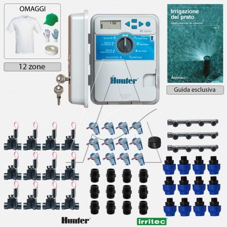 Kit irrigazione Prato Tappeto Erboso con elettrovalvole accessori e omaggi | 2 - 4 - 6 - 8 - 10 - 12 zone | XCH 24 VAC