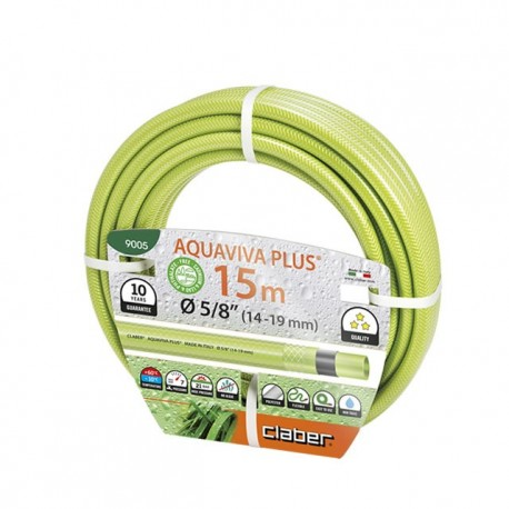 "Tubo garden AQUAVIVA PLUS 5/8"" (14 - 19mm) 15 metri - CLABER 9005"