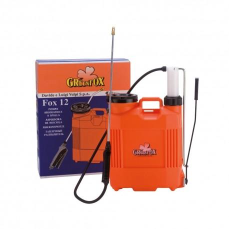 Pompa a zaino per diserbo FOX 16 da 16 litri con pompante in plastica - Green Fox