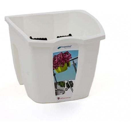 Fioriera per ringhiera balconiera CROWN, 24 cm Colore: Bianco