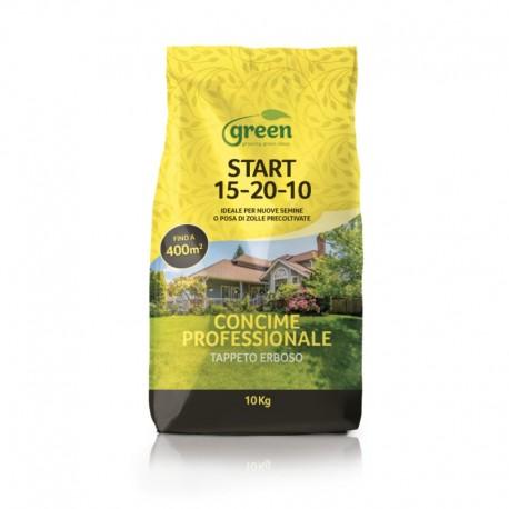 Concime per la Semina e la Posa del tappeto erboso - START 15.20.10 + SO3 + MgO | Sacco 10 Kg