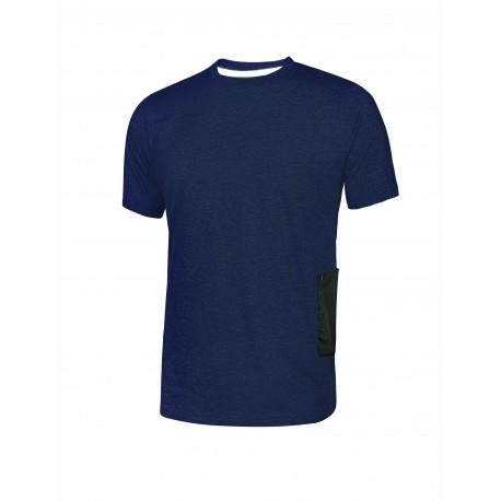 T-shirt da lavoro U Power Road slim-fit colore blue