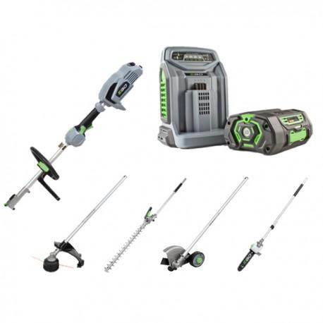Multiutensile EgoPower+   Kit completo di Decespugliatore, Potatore, Tagliasiepi, Tagliabordi, Batteria e Caricabatteria