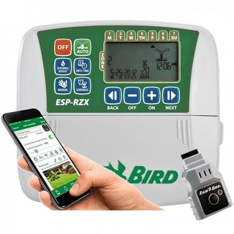 Programmatore centralina irrigazione Wi-Fi 6 stazioni Rain Bird da interno completa di Modulo Wifi LNK
